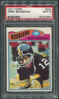 1977 Topps Football #245 Terry Bradshaw PSA 9 (MINT)