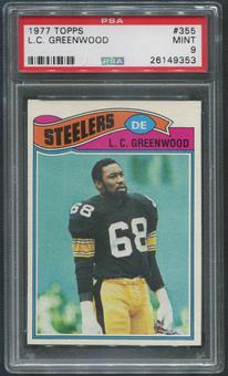 1977 Topps Football #355 L.C. Greenwood PSA 9 (MINT)