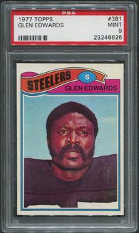 1977 Topps Football #381 Glen Edwards PSA 9 (MINT)