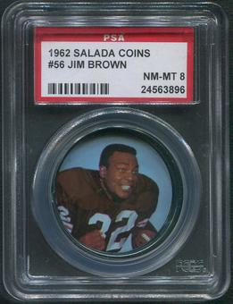 1962 Salada Coins Football #56 Jim Brown PSA 8 (NM-MT)