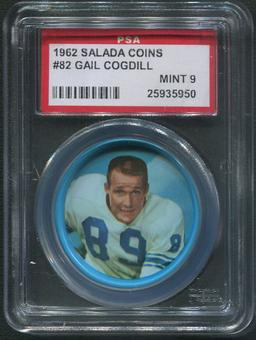 1962 Salada Coins Football #82 Gail Cogdill PSA 9 (MINT)