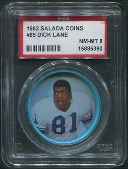 1962 Salada Coins Football #85 Dick Lane PSA 8 (NM-MT)