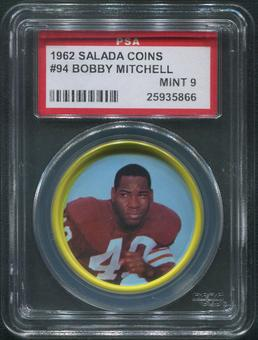 1962 Salada Coins Football #94 Bobby Mitchell PSA 9 (MINT)