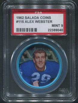 1962 Salada Coins Football #115 Alex Webster PSA 9 (MINT)