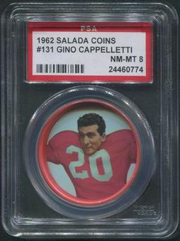1962 Salada Coins Football #131 Gino Cappelletti PSA 8 (NM-MT)