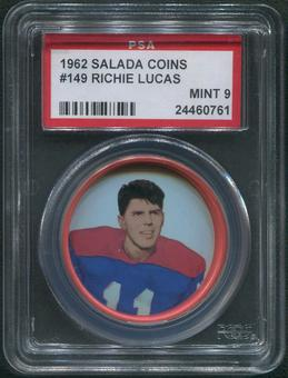 1962 Salada Coins Football #149 Richie Lucas PSA 9 (MINT)