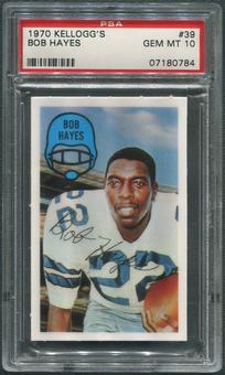 1970 Kellogg's Football #39 Bob Hayes PSA 10 (GEM MT)