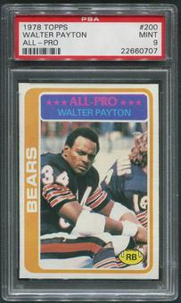 1978 Topps Football #200 Walter Payton All Pro PSA 9 (MINT)