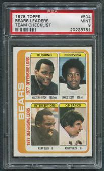 1978 Topps Football #504 Chicago Bears Checklist PSA 9 (MINT)