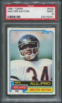 1981 Topps Football #400 Walter Payton PSA 9 (MINT)