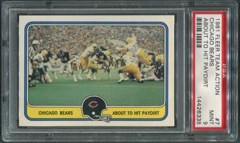 1981 Fleer Team Action Football #7 Chicago Bears About To Hit Paydirt PSA 9 (MINT)