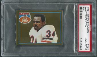 1981 Topps Stickers Football #121 Walter Payton Foil PSA 8 (NM-MT)