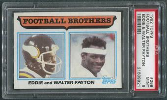 1982 Topps Football #269 Walter Payton & Eddie Payton Football Brothers PSA 9 (MINT)