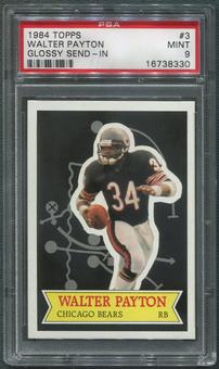 1984 Topps Football #3 Walter Payton Glossy Send-In PSA 9 (MINT)