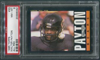 1985 Topps Football #33 Walter Payton All Pro PSA 8 (NM-MT)