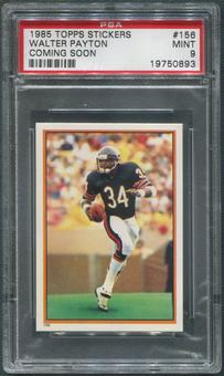 1985 Topps Stickers Football #156 Walter Payton Coming Soon PSA 9 (MINT)