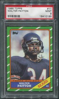 1986 Topps Football #11 Walter Payton All Pro PSA 9 (MINT)
