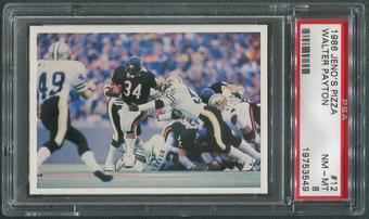 1986 Jeno's Pizza Football #12 Walter Payton PSA 8 (NM-MT)