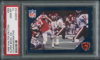 1988 Walter Payton Commemorative Football #99 Super Bowl XX PSA 10 (GEM MT)