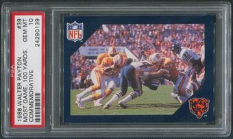 1988 Walter Payton Commemorative Football #39 Most Games 100 Yards PSA 10 (GEM MT)