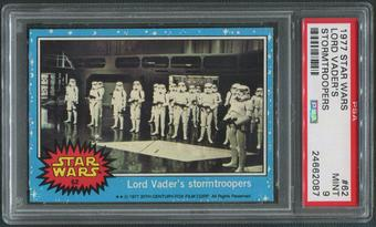 1977 Star Wars #62 Lord Vader's Stormtroopers PSA 9 (MINT)