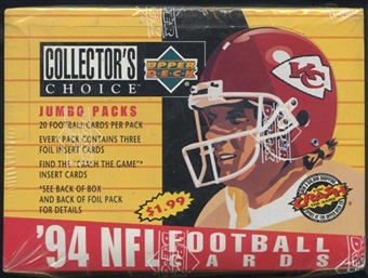 1994 Upper Deck Collector's Choice Football Jumbo Box