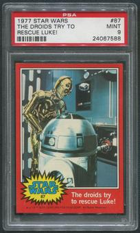 1977 Star Wars #87 The Droids Try To Rescue Luke! PSA 9 (MINT)