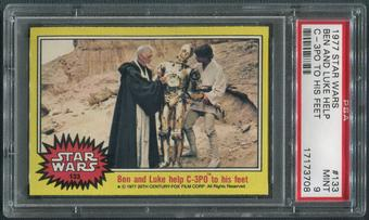 1977 Star Wars #133 Ben And Luke Help C-3PO To His Feet PSA 9 (MINT)