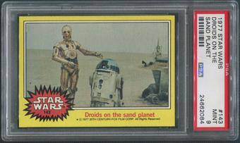 1977 Star Wars #143 Droids On The Sand Planet PSA 9 (MINT)