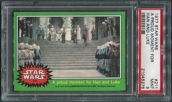 1977 Star Wars #211 A Proud Moment For Han And Luke PSA 9 (MINT)