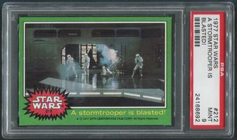 1977 Star Wars #212 A Stormtrooper Is Blasted! PSA 9 (MINT)