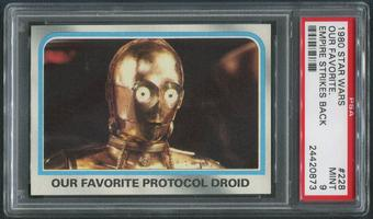 1980 Star Wars Empire Strikes Back #228 Our Favorite Protocol Droid PSA 9 (MINT)