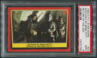 1983 Star Wars Return Of The Jedi OPC #23 Watched By Boba Fett PSA 9 (MINT)