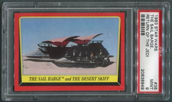 1983 Star Wars Return Of The Jedi #38 The Sail Barge And The Desert Skiff PSA 9 (MINT)