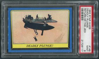 1983 Star Wars Return Of The Jedi #148 Deadly Plunge PSA 9 (MINT)