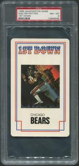 1986 Waddington Game Football #5 Walter Payton 1st Down PSA 8 (NM-MT)