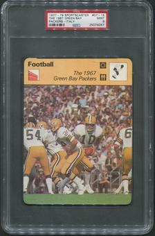 1977-79 Sportscaster Italy Football #07-15 The 1967 Green Bay Packers PSA 9 (MINT)
