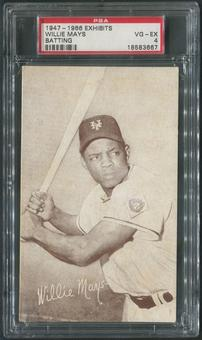 1947-1966 Exhibits Baseball Willie Mays Batting PSA 4 (VG-EX)