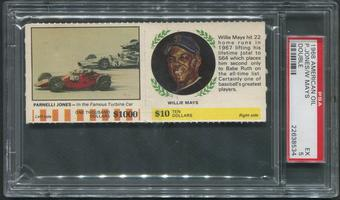 1968 American Oil Double Baseball Willie Mays & Parnelli Jones PSA 5 (EX)