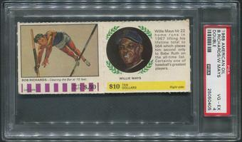 1968 American Oil Double Baseball Willie Mays & Bob Richards PSA 4 (VG-EX)