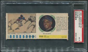 1968 American Oil Double Baseball Willie Mays & Gale Sayers PSA 5 (EX)