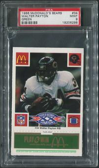 1986 McDonald's All-Stars Football #34 Walter Payton Green PSA 9 (MINT)