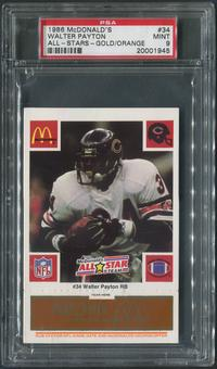 1986 McDonald's All-Stars Football #34 Walter Payton Gold / Orange PSA 9 (MINT)