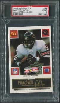 1986 McDonald's All-Stars Football #34 Walter Payton Black PSA 9 (MINT)