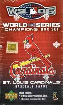 2006 Upper Deck Baseball World Champions Cardinals Hobby Set (Box)