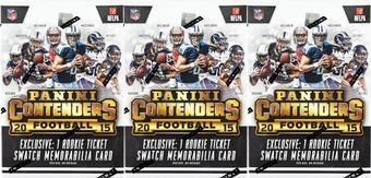 2015 Panini Contenders Football 5-Pack Box (Lot of 3)