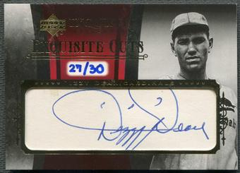 2006 Exquisite Collection #DD Dizzy Dean Exquisite Cuts Auto #27/30
