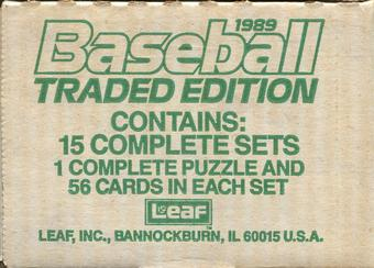 1989 Donruss Traded Baseball Factory 15-Set Case