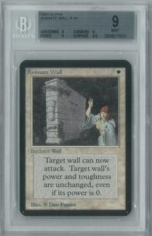 Magic the Gathering Alpha Single Animate Wall BGS 9 (9, 9, 9, 9.5)