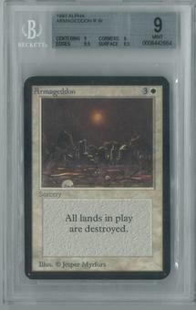 Magic the Gathering Alpha Single Armageddon BGS 9 (9, 9, 9.5, 8.5)